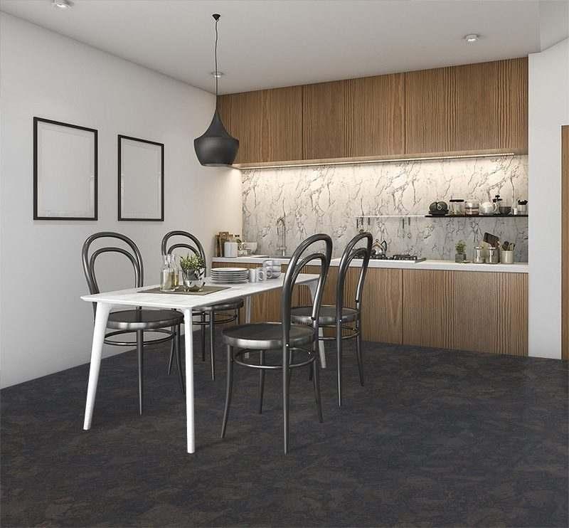 Black cork flooring shadow black 21 sf per box for Cork flooring kitchen reviews