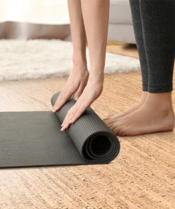 silver birch forna cork floors yoga room soft comfortable resilient