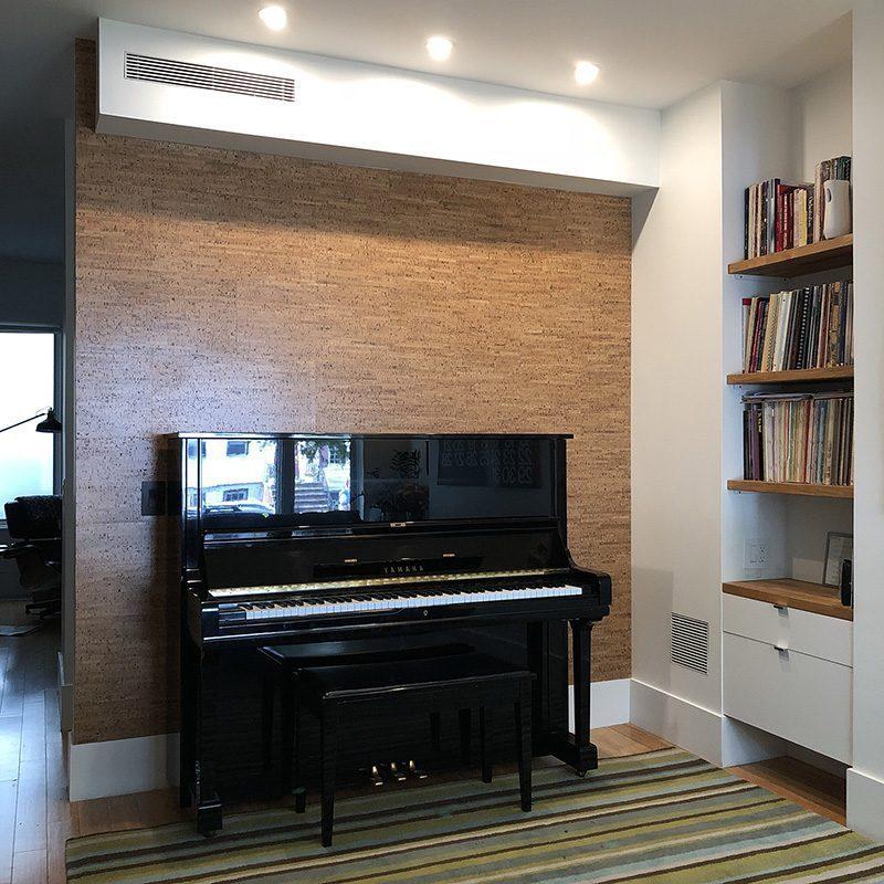 silver birch forna cork wall tiles Brooklyn new york