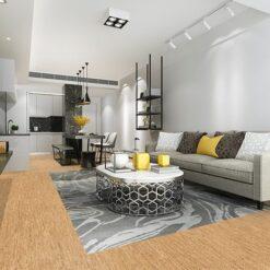 silver birch uniclic cork floors modern living room