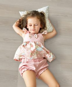 silver pine cork flooring sweet little girl is lying on the warm flour eco green home
