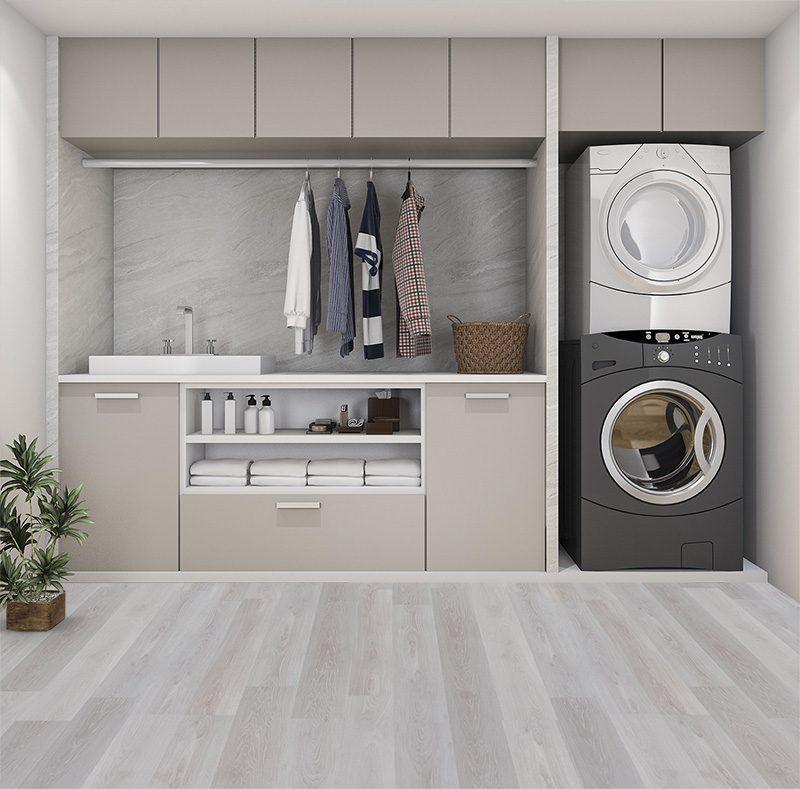 silver pine fusion cork floor forna laundry room design