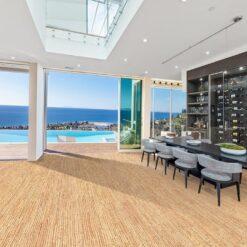 sisal cork flooring green building design luxury classic living room