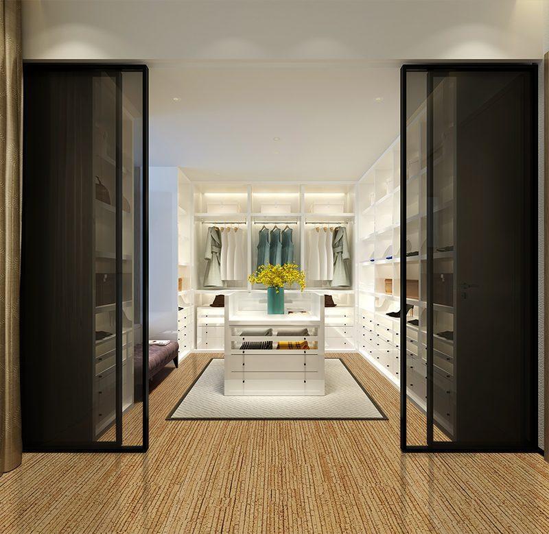 sisal forna cork flooring luxury modern walk in closet interior basement