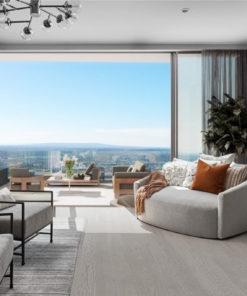snowflake engineered hardwood flooring living room design