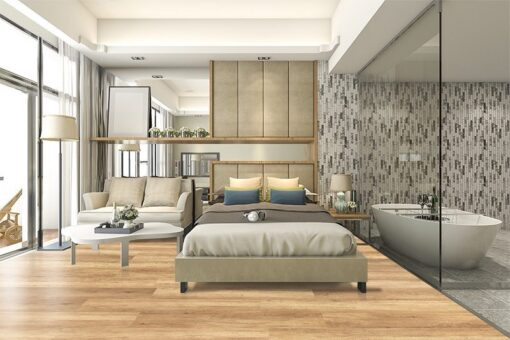 spanish cedar design wood cork floor modern bedroom interior design