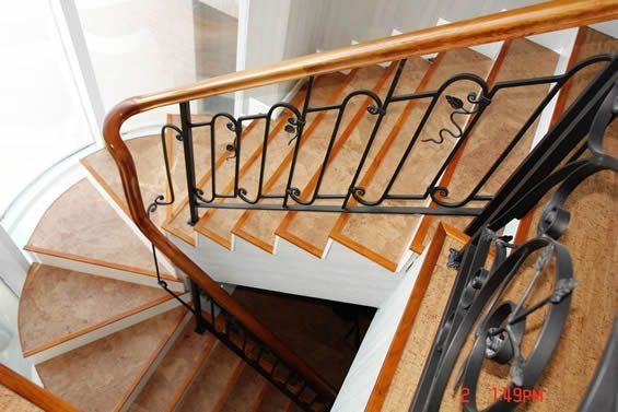 stairs flooring cork