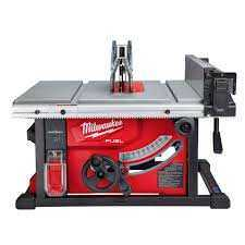 A table saw can be used for straight cuts.
