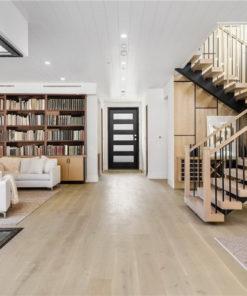 summer lily wire brush white oak europe hardwood floor bright modern living room
