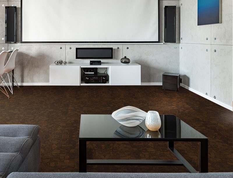 sunny ripple forna cork floor home theatre interior design soundproof