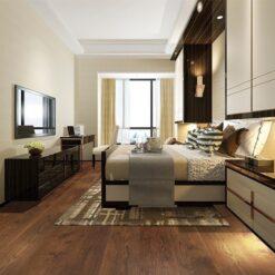 sunset engineered hardwood flooring bedroom hotel cinnamon brown colour
