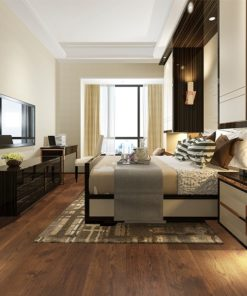 sunset engineered hardwood flooring bedroom hotel cinnamon brown colour