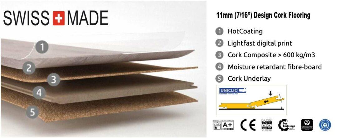 overview design cork floating flooring