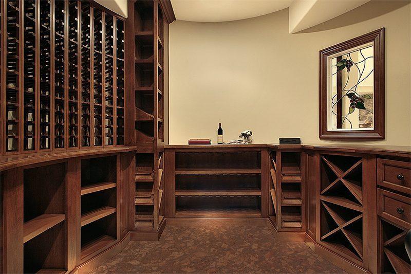 tasmanian burl cork floor forna wine cellar in luxury home