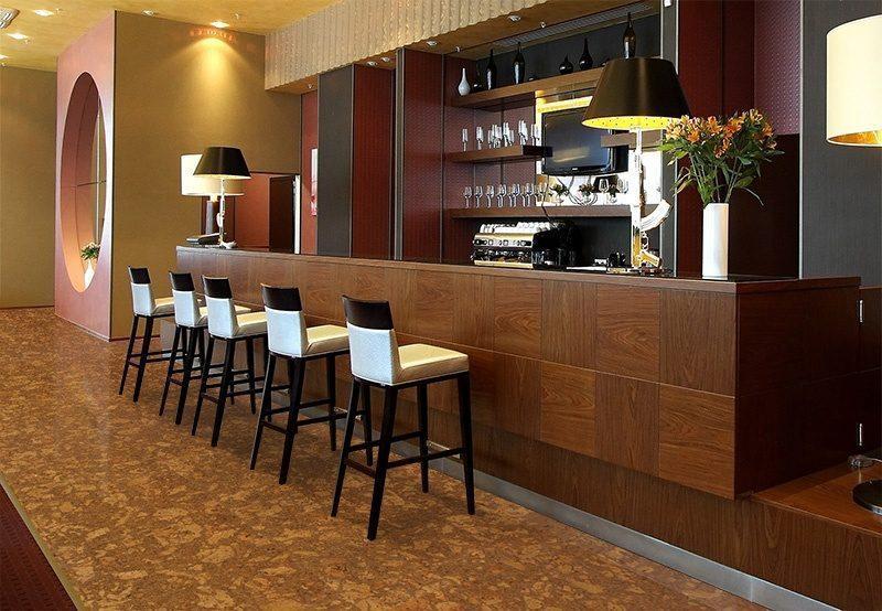 tasmanian burl cork resilient bar wine restaurant resistant floor