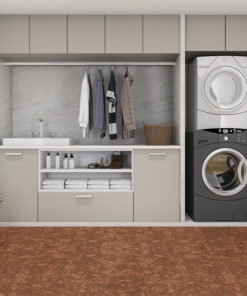 tasmanian burl forna cork floors modern laundry room