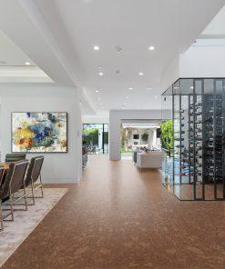 tasmanian burl forna cork foor living room luxury home