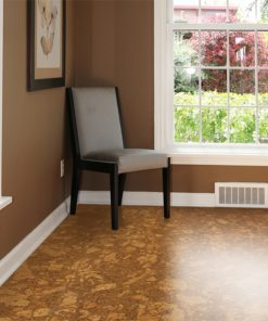 tasmanian cork resilient floor sustainble home brown