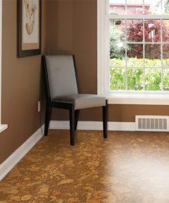 tasmanian cork resilient floor sustainble home brown