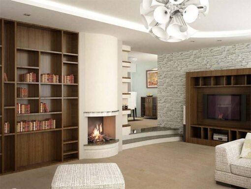 taupe leather forna cork floors modern living room design