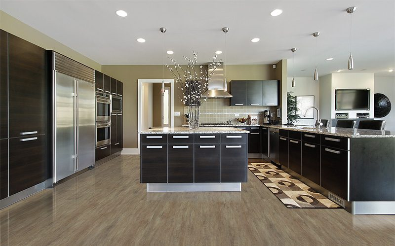 teak fusion cork floor contemporary kitchen interior design