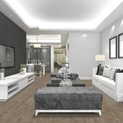 teak fusion cork floor luxury and modern living room with black white wall