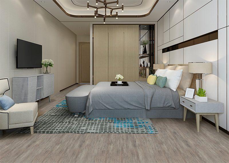 teak fusion cork foran flooring black luxury modern bedroom suite in hotel and resort