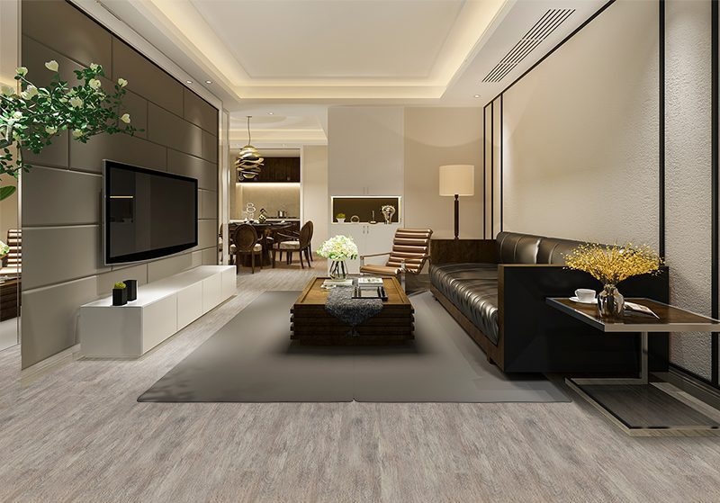 teak fusion forna cork floor hotel luxury and modern living room and dining room
