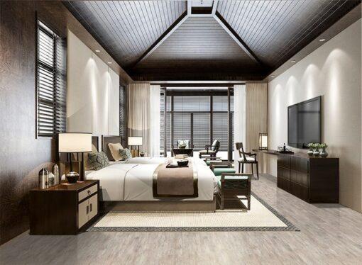 teak fusion uinclic cork floor hotel luxury comfortable room design