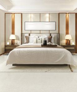 terrazzo forna cork uniclic flooring sound noise reduction bedroom white
