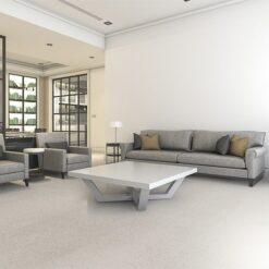 terrazzo white cork floor living room sofa armchair