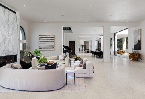 terrazzo white cork flooring Inexpensive basement flooring ideas