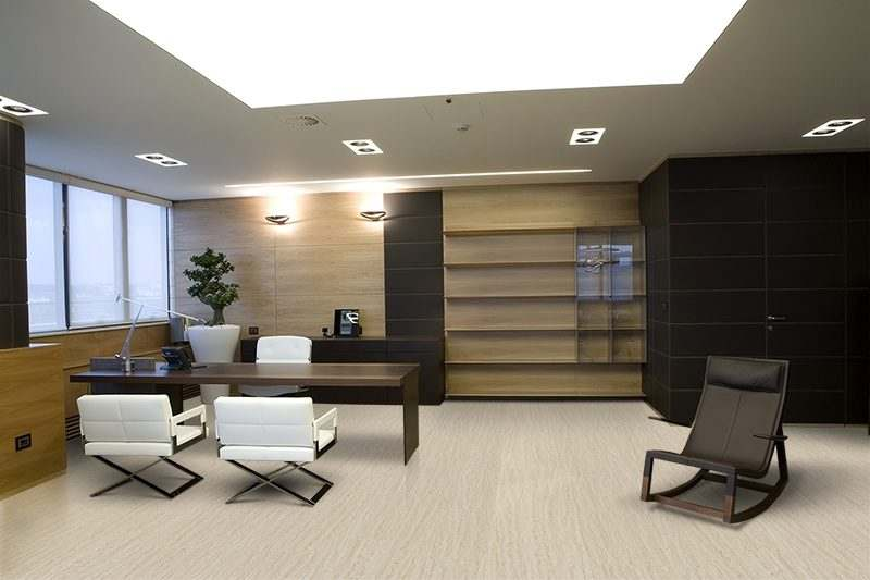 travertine design concept cork flooring office modern interior