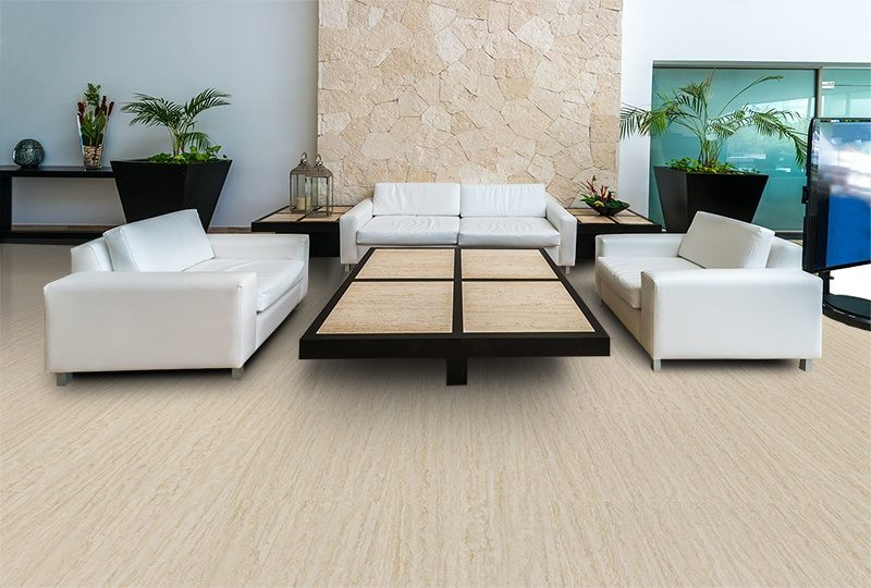 travertine design concept floating cork flooring lobby hotel office modern five stars