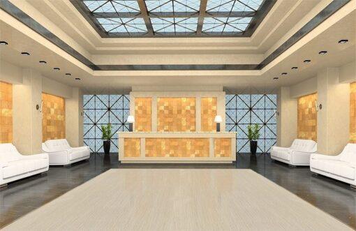 travertine design concept floating cork flooring reception modern hotel