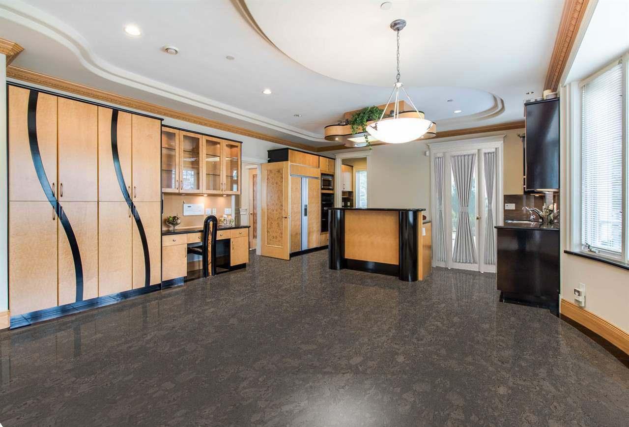 walnut burlwood cork floor in a luxury and modern living room with chandelier