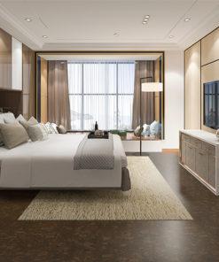 walnut burlwood non toxi flooring cozy bedroom sustainable fashion