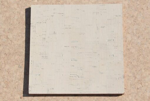 white bamboo forna cork tile sample