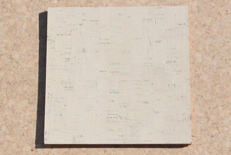 white bamboo forna cork tile sample