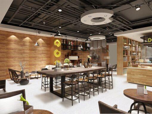 white bamboo interior design private club restaurant membership exclusive