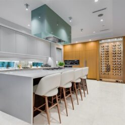 white cork flooring forna leather kitchen