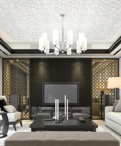 white cubes cork ceiling tiles acoustic soundproofing interior design