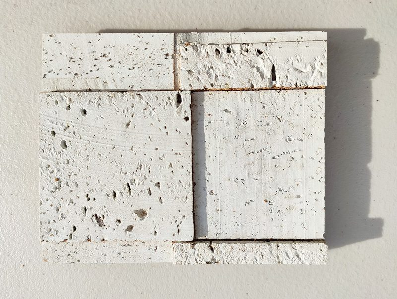 white cubes peel and stick cork walls tiles sample