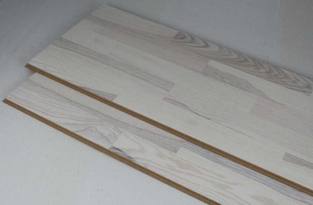 white flooring printed cork plank ash white