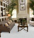 white leather cork floor living room luxury decor