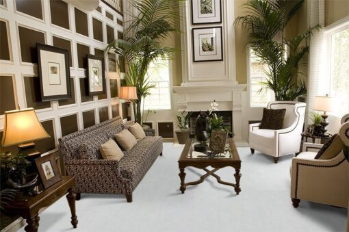 white leather cork floor living room luxury decor