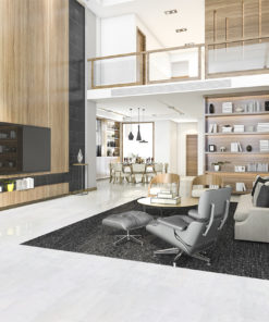 white leather cork floor luxury modern living room
