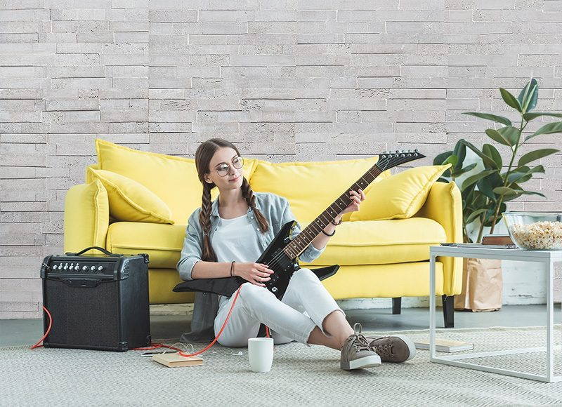 whitewash brick cork wall musician room soundproof wall music recording acoustic insulation design