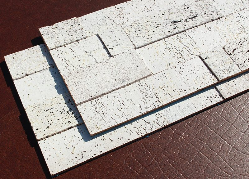 whitewashed brick peel and stick 10mm cork wall tiles acoustic