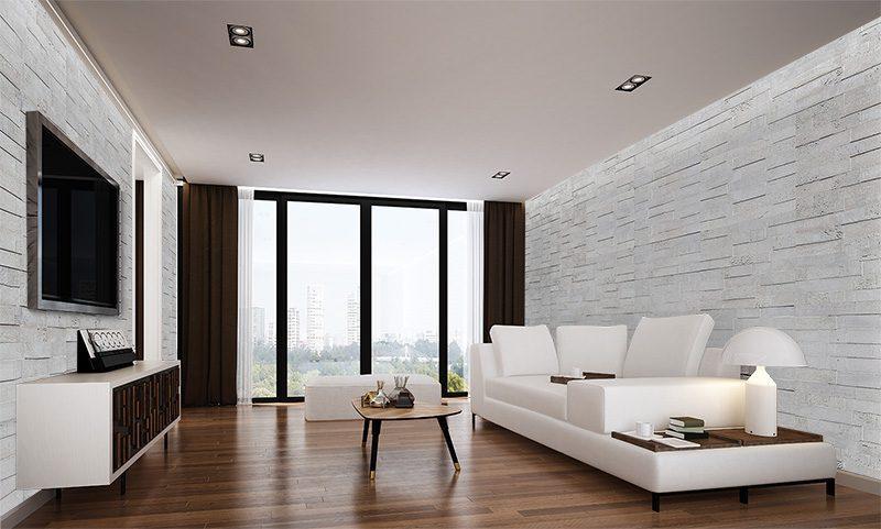 whitewashed brick peel stick 10mm cork wall tiles soundproof livingroom studios acoustic